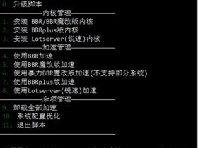 锐速/BBR/魔改BBR/KCPTUN加速VPS效果对比测试 BBR 原版 / 魔改 / Plus + 锐速四合一脚本