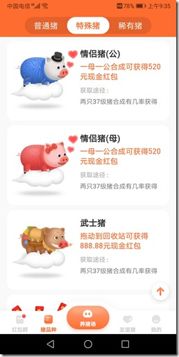 特殊猪  情侣猪公母武士猪